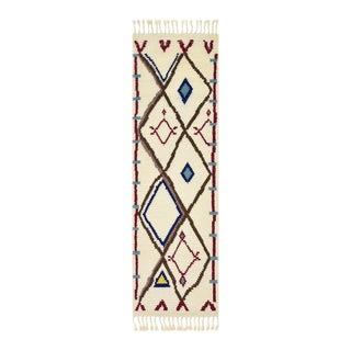 Moises, Handmade Runner Rug - 2' 6 x 8 For Sale