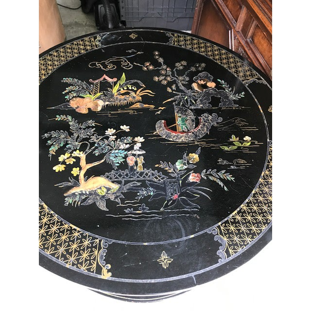 Lacquer Vintage Katherine Henick Signed End Table For Sale - Image 7 of 9