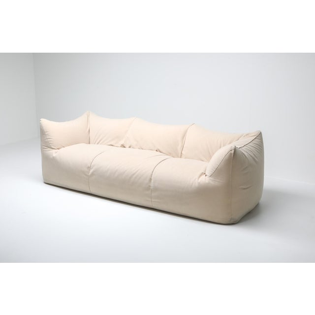 Mid-Century Modern Mario Bellini 'Le Bambole' Three-Seat Couch in Alcantara For Sale - Image 3 of 10