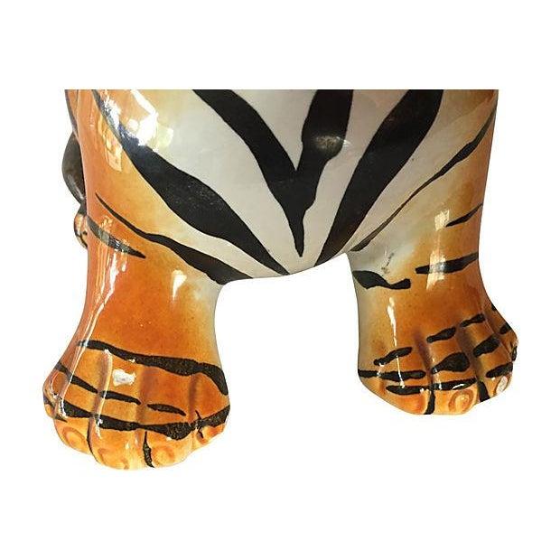Hand Painted Italian Ceramic Tiger Cub - Image 5 of 6