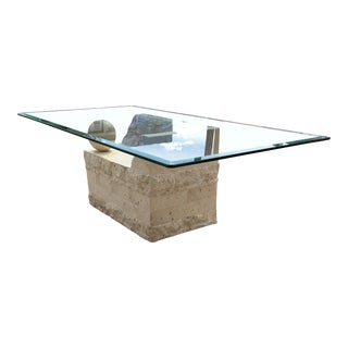 1980s Art Deco Magnussen Presidential Tessellated Stone Coffee Table For Sale