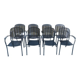 Kettler Monte Carlo Wrought Iron Dining Armchairs- Set of 8 For Sale