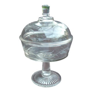 Traditional Covered Glass Compote