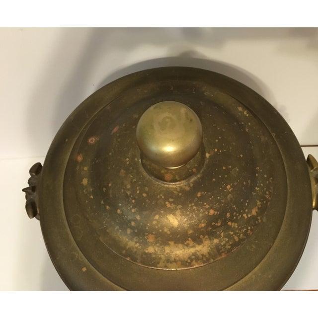 Brass Samovar Teapot With Foo Dog Handles - Image 3 of 3