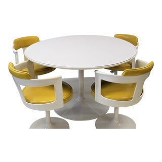 Mid Century Modern Daystrom Tulip Base Dining Set For Sale