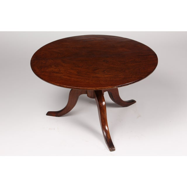Romanian Walnut Round Side Table - Image 2 of 6