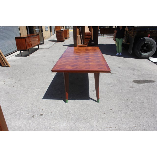 Master Piece French Art Deco Dining Table Cherry Wood By Leon Jallot 1930s For Sale - Image 9 of 13