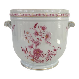 French Limoges Floral Cachepot For Sale