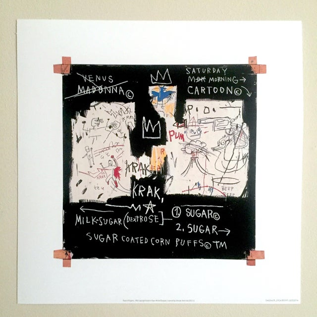 This original Pop Art Abstract fine art lithograph print is of the world famous American artist jean Michel Basquiat (...