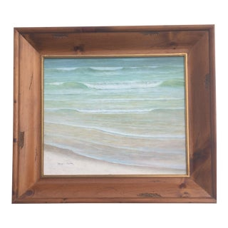 """The Wave"" Minimalist Oil Painting by Peter Blair For Sale"
