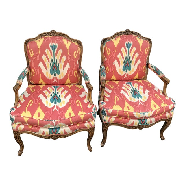 1980s Traditional French Baker Chairs - a Pair For Sale