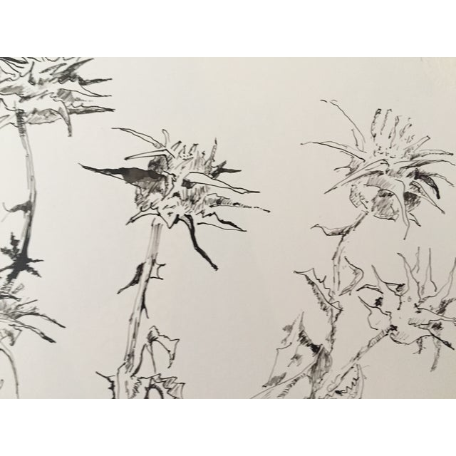 """""""Thistles"""", Pen & Ink by Roger Stokes - Image 3 of 4"""