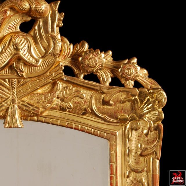 Gesso Superb French Regency Period Giltwood Wall Mirror For Sale - Image 7 of 12