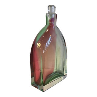 1980s Modern Russian Blown Lead Crystal Decanter For Sale