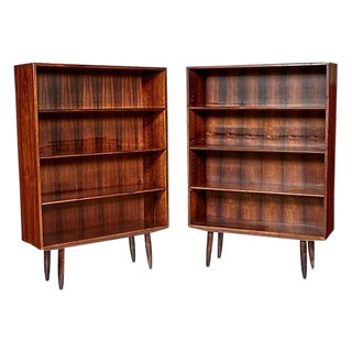 1960s Danish Rosewood Bookcases, A Pair
