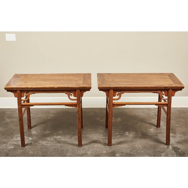 Late 19th C. Chinese Side Tables - a Pair For Sale - Image 4 of 9