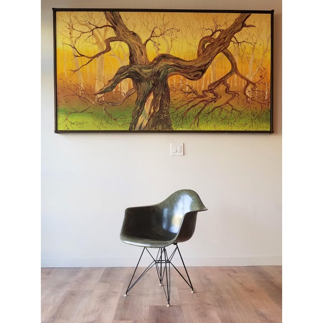 1960s Olive Green Eames DAR Eiffel Chair For Sale - Image 12 of 13