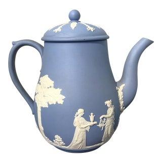 1950s Wedgewood Jasperwear Coffee Pot For Sale