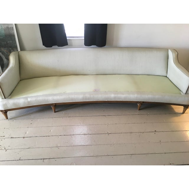 Thomasville Mid-Century Modern Curved Sofa For Sale - Image 9 of 9