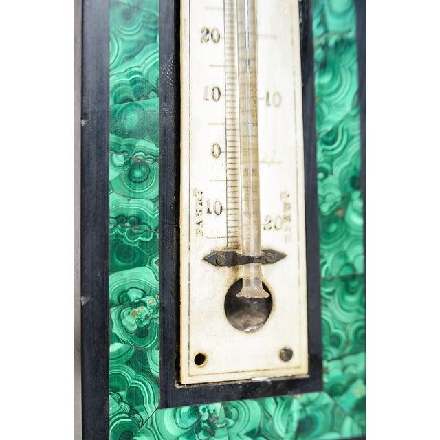Antique Pietra Dura & Malachite Obelisk Barometer For Sale - Image 9 of 9