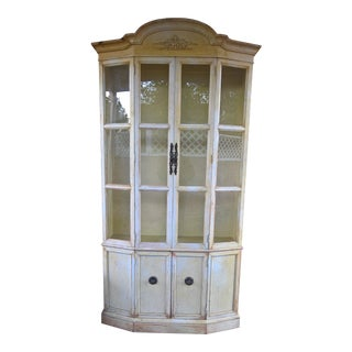 1960s Shabby Chic Curio/China Cabinet For Sale