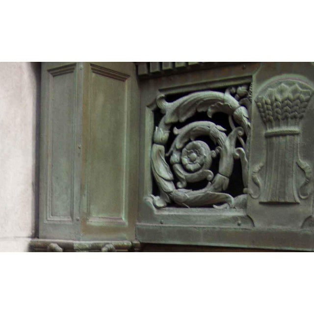 Ornate Bronze Palladian Window Transom For Sale - Image 4 of 10