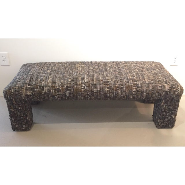 Vintage Tweed Upholstered Bench - Image 3 of 6