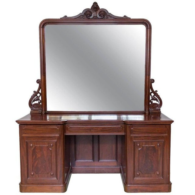 19th Century Antique Sideboard With Mirror For Sale - Image 11 of 11