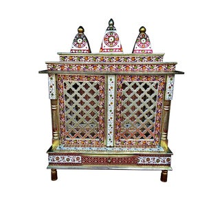 Meenakari Hindu Temple Mandapam Altar For Sale