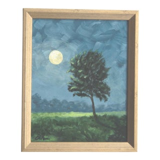 Landscape With Tree Acrylic Painting on Canvas For Sale