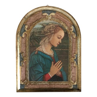 Italian Florentine Religious Wall Plaque For Sale