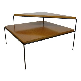 1950s Vintage Paul McCobb for Directional Two-Tier Corner Table For Sale