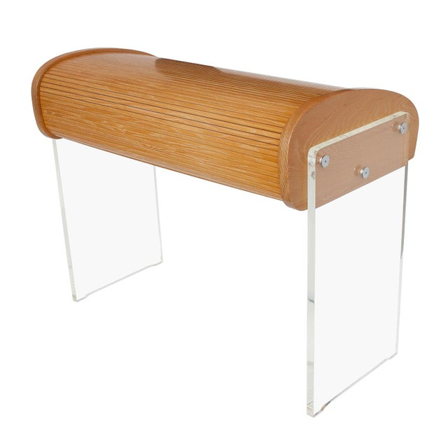 Vladimir Kagan Roll Top Writing Desk - Image 5 of 10