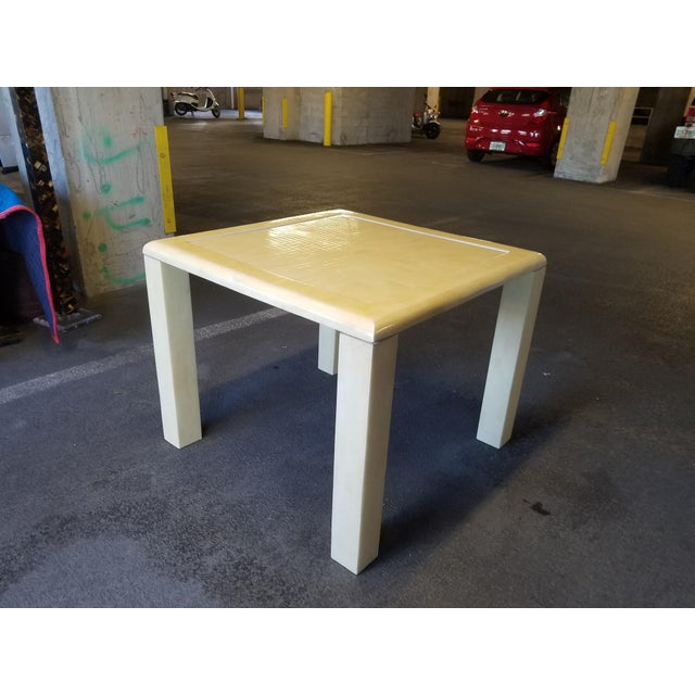 1970's Tessellated Bone Gaming Table For Sale - Image 4 of 12