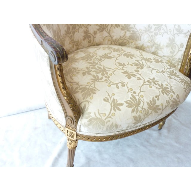 French Giltwood Bergere Chair - Image 6 of 11