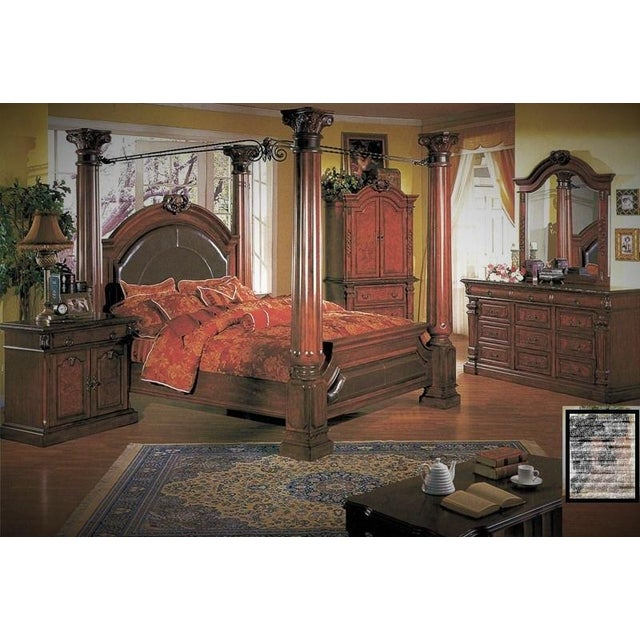 Luxury Cherry Tv Armoire & Dresser Set - Image 11 of 11