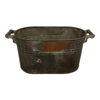 1970s Georgia Farmhouse Bucket With Wooden Handles For Sale