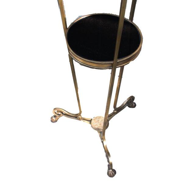 Hollywood Regency Bronze & Marble Regency Style Pedestal For Sale - Image 3 of 4