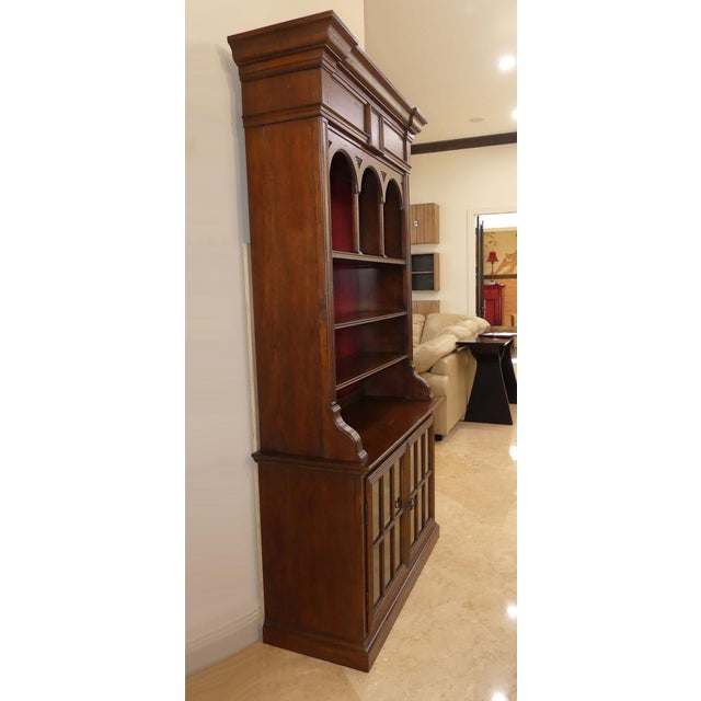 Wood Hekman Display Cabinet Bookcase Hutch For Sale - Image 7 of 13