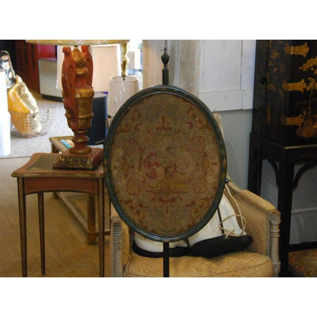 English Traditional 19th C. English Pole Screen For Sale - Image 3 of 6