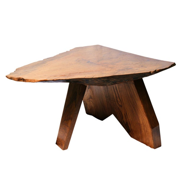 Rustic Live Edge Tree Cocktail Table For Sale