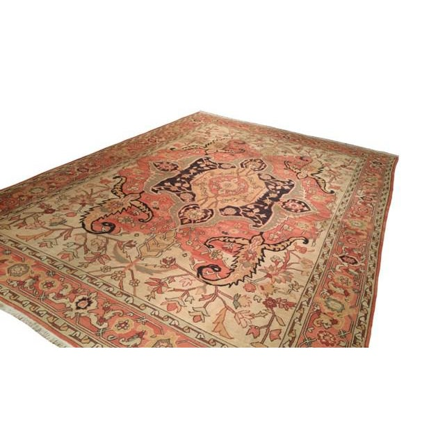 Traditional Antique Reproduction Flat Weave Soumak Hand Made Rug - 10x14 For Sale - Image 3 of 4