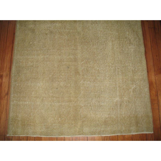 Islamic Vintage Taupe Turkish Rug For Sale - Image 3 of 4