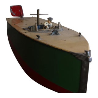 1930s Vintage Scale Model Toy Boat For Sale