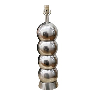 Chrome Finish Mid Century Stacked Ball Lamp For Sale