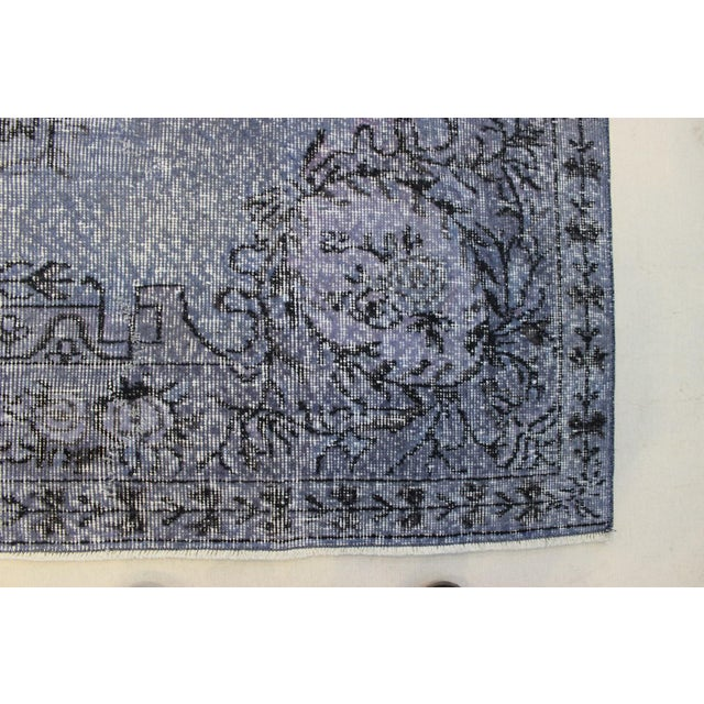 Textile Turkish Overdyed Rug - 6′5″ × 9′9″ For Sale - Image 7 of 9