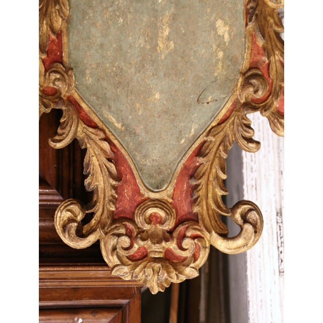 Early 20th Century Early 20th Century Italian Carved Gilt and Painted Wall Hanging Shields - a Pair For Sale - Image 5 of 9
