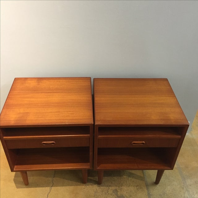 Danish Modern Teak Nightstands - Pair - Image 5 of 6