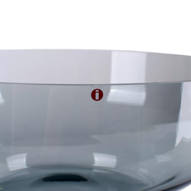 Contemporary Carina Seth-Andersson for Iittala 'Relations' Smoke Glass Bowl For Sale - Image 3 of 4
