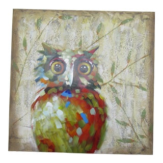 Abstract Owl Oil Painting For Sale